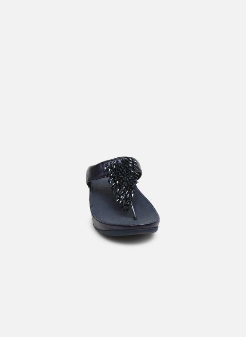 Mules et sabots FitFlop Rumba Bleu vue portées chaussures