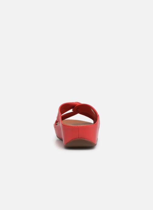 Zuecos FitFlop Twiss Slide Rojo vista lateral derecha