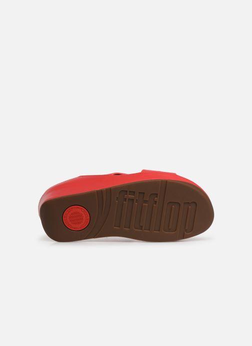 Zuecos FitFlop Twiss Slide Rojo vista de arriba