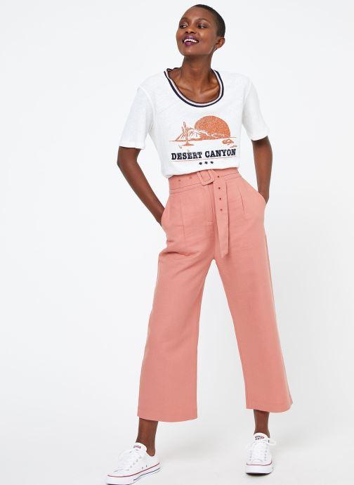 Vêtements Suncoo T SHIRT MELROSE Blanc vue bas / vue portée sac