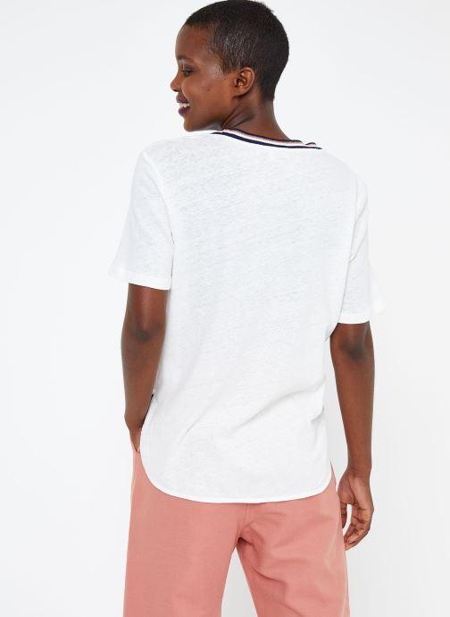 Vêtements Suncoo T SHIRT MELROSE Blanc vue portées chaussures