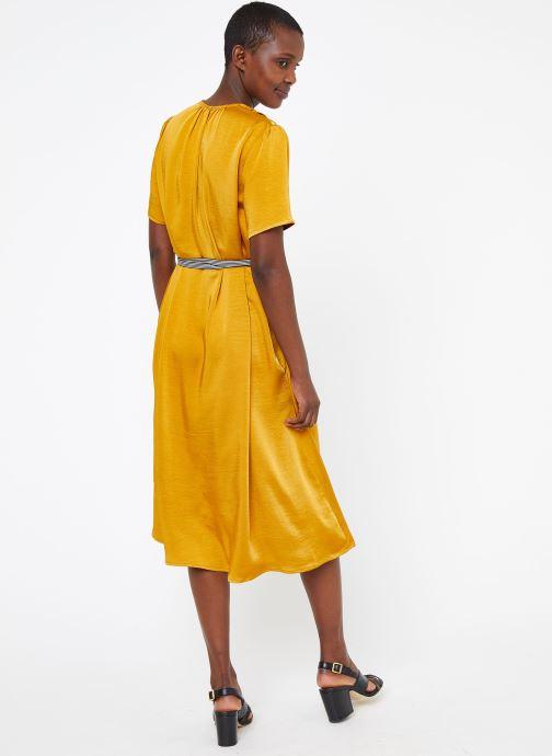 Vêtements Suncoo ROBE CYPRES Jaune vue portées chaussures