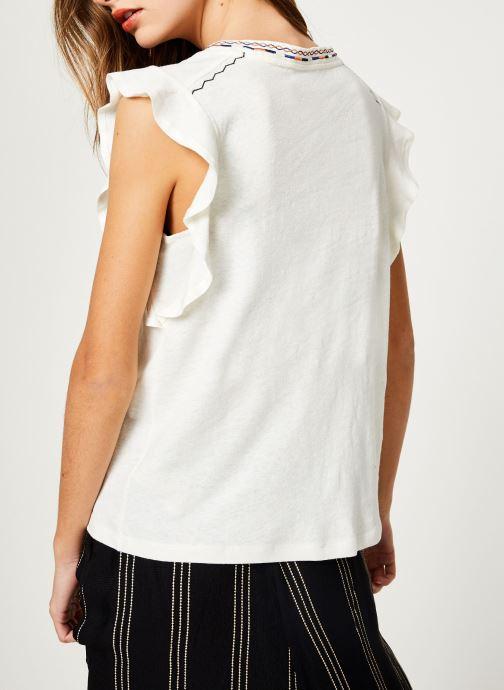 Vêtements Suncoo T-SHIRT MILO Blanc vue portées chaussures