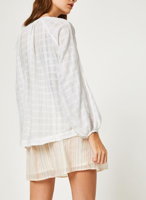 Vêtements Suncoo BLOUSE LISBONNE Blanc vue portées chaussures