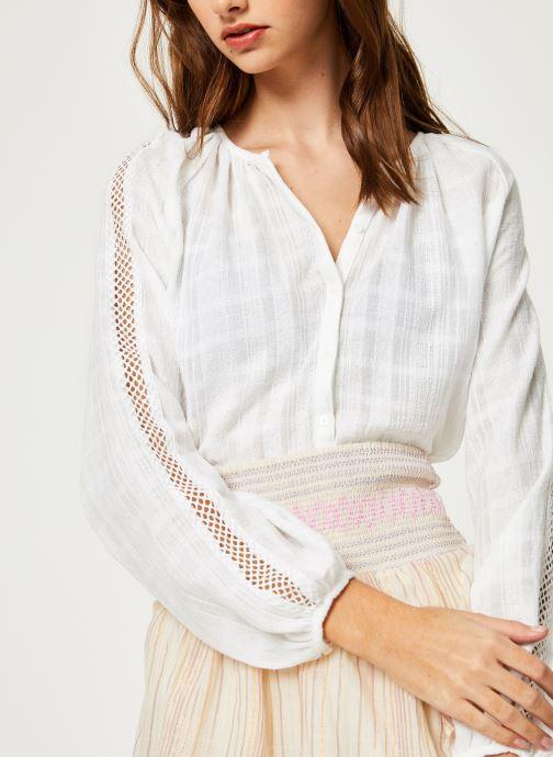 Vêtements Suncoo BLOUSE LISBONNE Blanc vue détail/paire