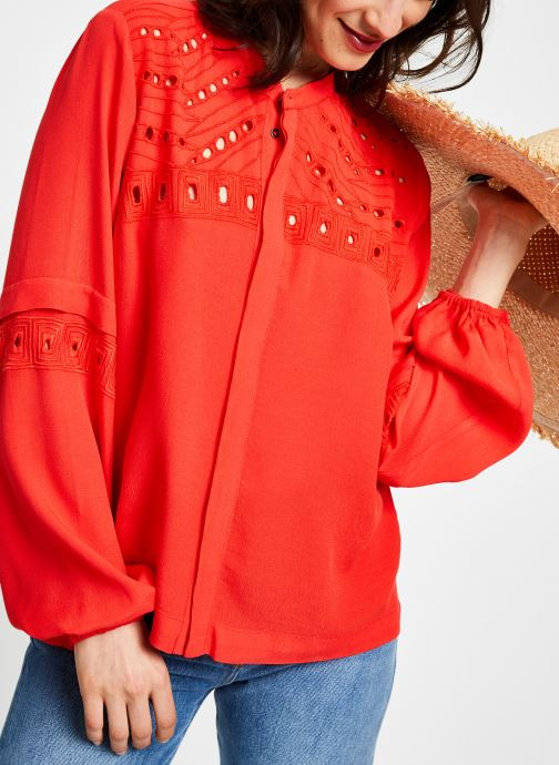 Kleding Suncoo BLOUSE LINE Rood rechts