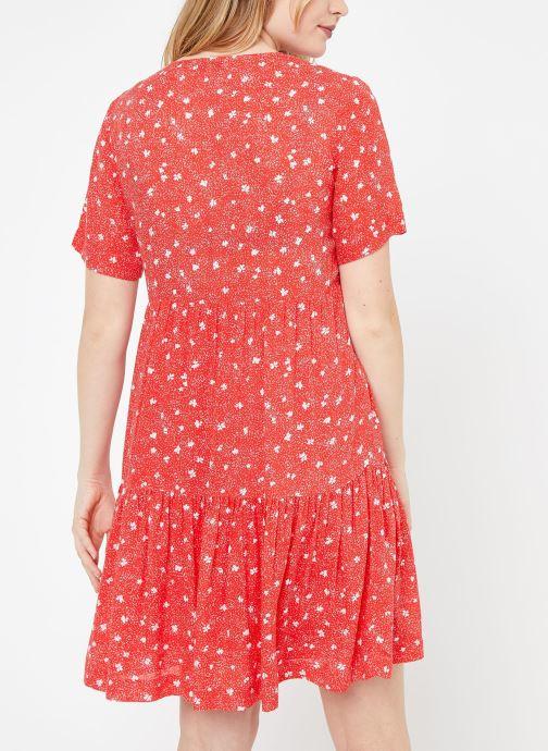 Vêtements Suncoo ROBE CASTELLA Rouge vue portées chaussures