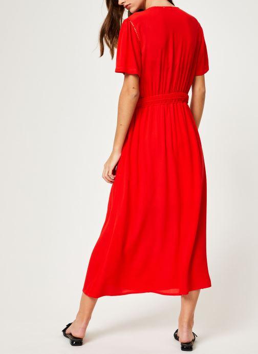 Vêtements Suncoo ROBE CATALINA Rouge vue portées chaussures