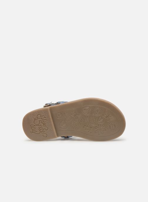 Sandales et nu-pieds Gioseppo COLLEGNO Bleu vue haut
