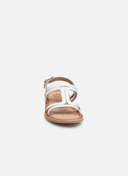 Sandales et nu-pieds Gioseppo COLLEGNO Blanc vue portées chaussures