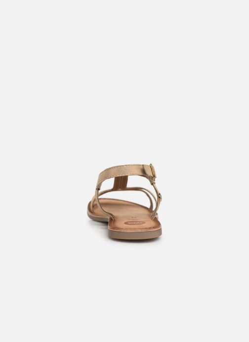 Sandales et nu-pieds Gioseppo PESARO Or et bronze vue droite