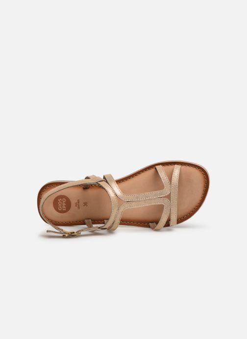 Sandales et nu-pieds Gioseppo PESARO Or et bronze vue gauche