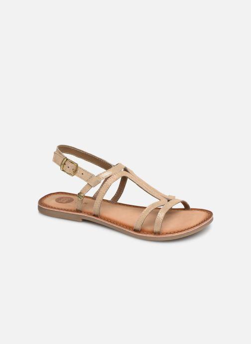 Sandales et nu-pieds Gioseppo PESARO Or et bronze vue détail/paire