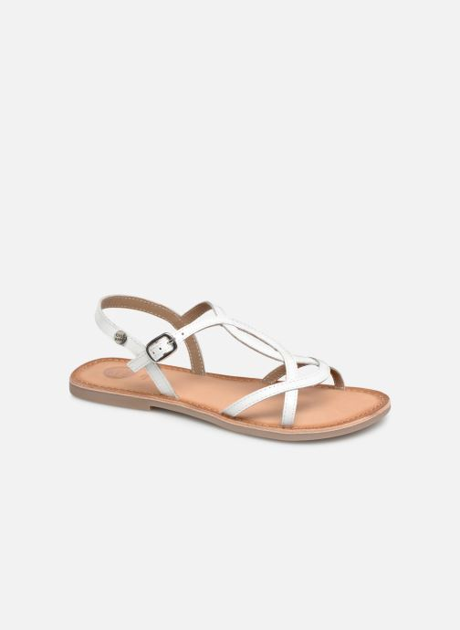 Sandals Gioseppo CINISELLO White detailed view/ Pair view