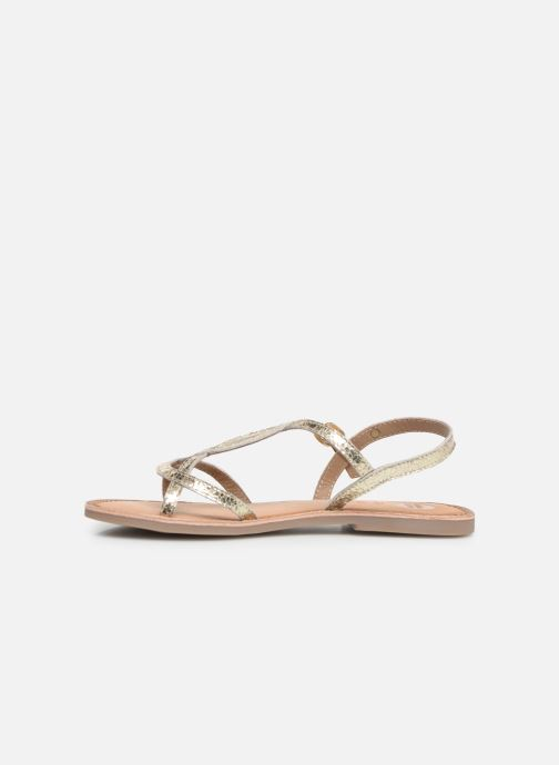 Sandales et nu-pieds Gioseppo CINISELLO Or et bronze vue face