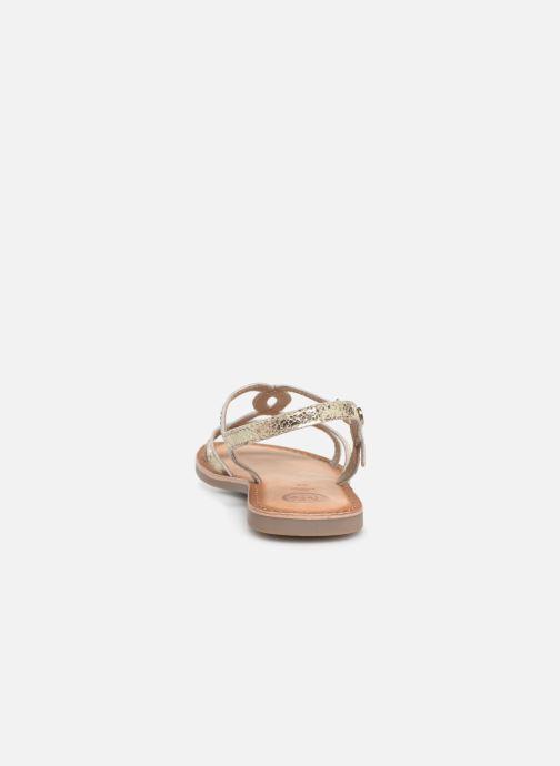 Sandales et nu-pieds Gioseppo CINISELLO Or et bronze vue droite