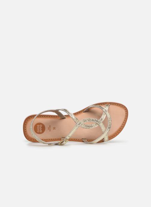Sandales et nu-pieds Gioseppo CINISELLO Or et bronze vue gauche