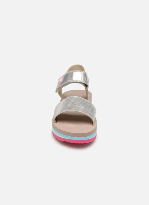 Sandalen Gioseppo SANREMO silber schuhe getragen