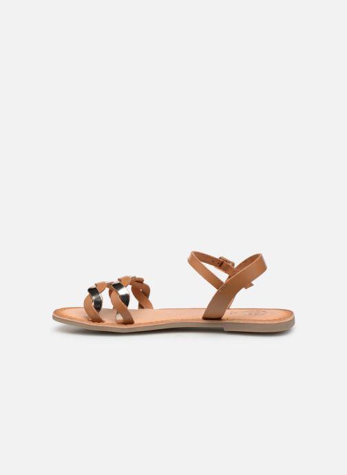 Sandalen Gioseppo SCANDICCI braun ansicht von vorne