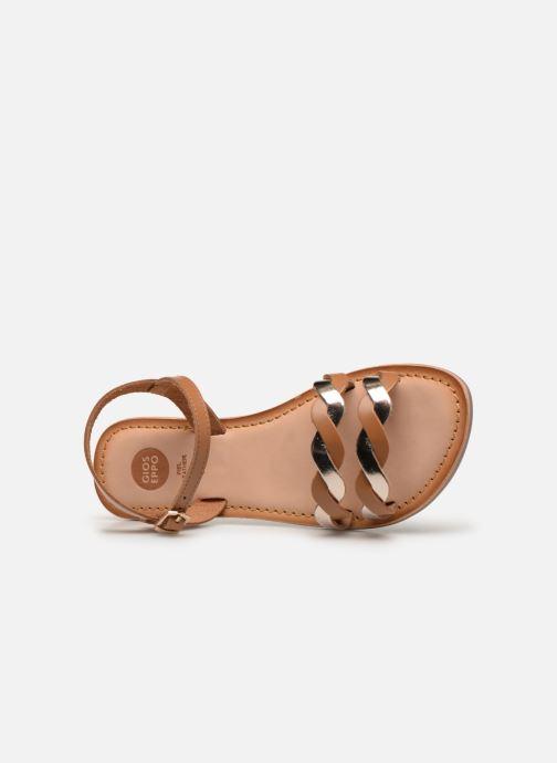 Sandales et nu-pieds Gioseppo SCANDICCI Marron vue gauche