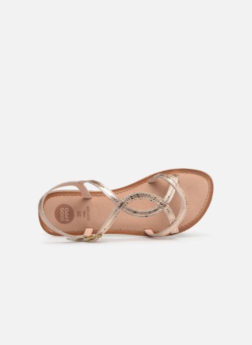 Sandales et nu-pieds Gioseppo 44993 Or et bronze vue gauche