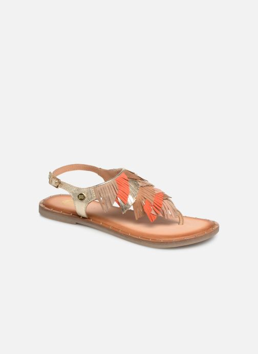 Sandals Gioseppo CATANZARO Bronze and Gold detailed view/ Pair view