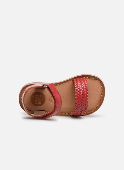 Sandals Gioseppo ODERZO Red view from the left