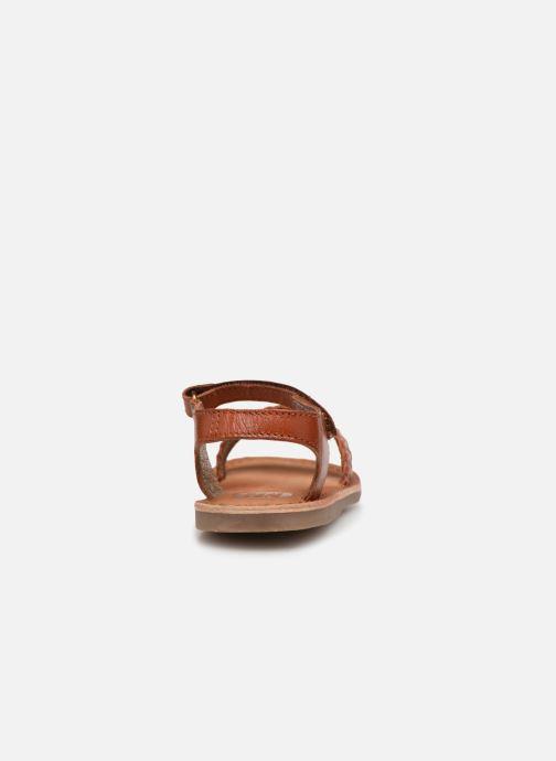 Sandales et nu-pieds Gioseppo ODERZO Marron vue droite