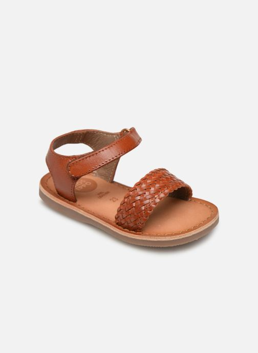 Sandals Gioseppo ODERZO Brown detailed view/ Pair view