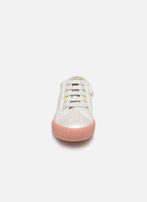 Baskets Gioseppo FANO Argent vue portées chaussures
