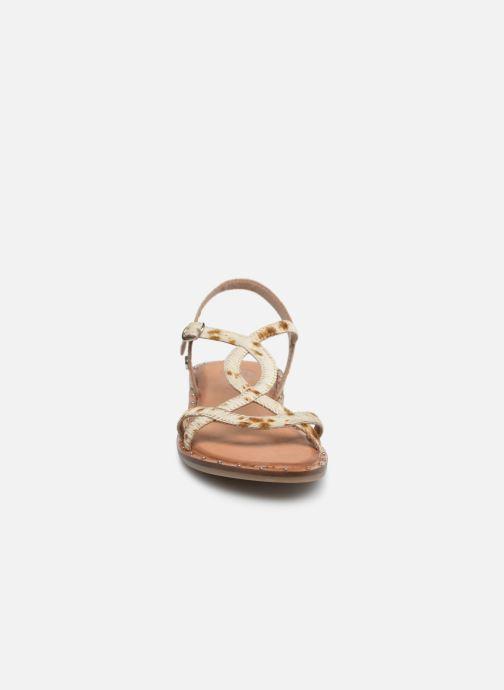Sandales et nu-pieds Gioseppo BAGHERIA Blanc vue portées chaussures