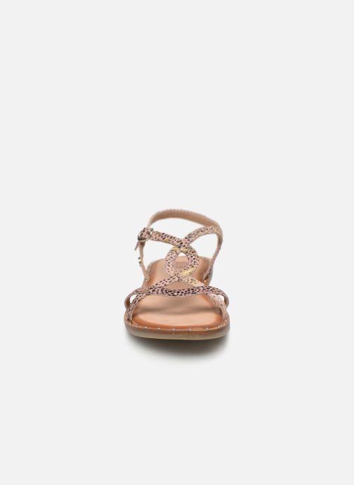 Sandales et nu-pieds Gioseppo BAGHERIA Rose vue portées chaussures