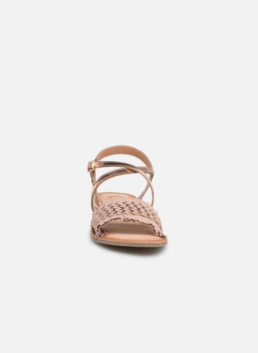 Sandales et nu-pieds Gioseppo CANDELI Rose vue portées chaussures