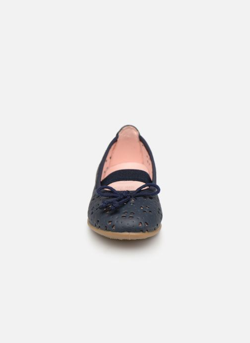 Ballerines Gioseppo SAMARA Bleu vue portées chaussures