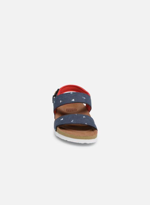 Sandales et nu-pieds Gioseppo MAINZ Bleu vue portées chaussures