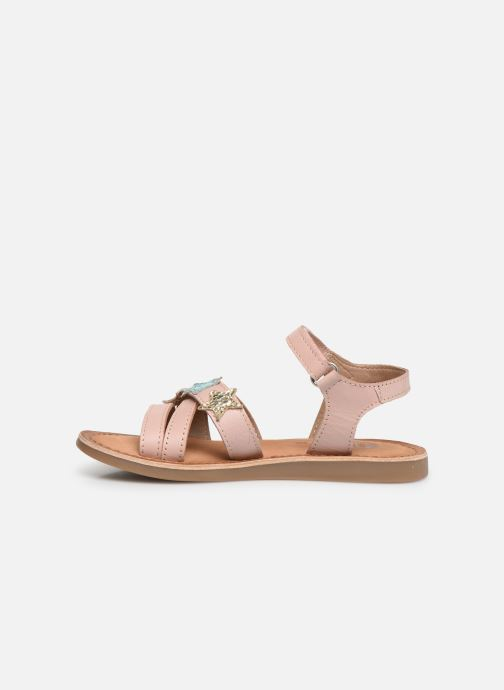 Sandals Gioseppo CLERMONT Silver front view