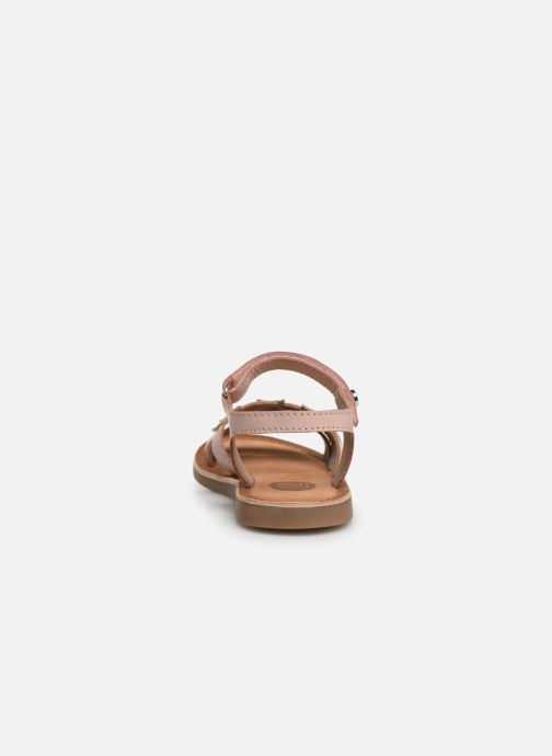 Sandals Gioseppo CLERMONT Silver view from the right