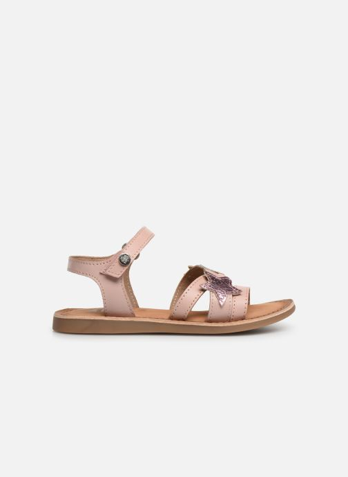Sandals Gioseppo CLERMONT Silver back view