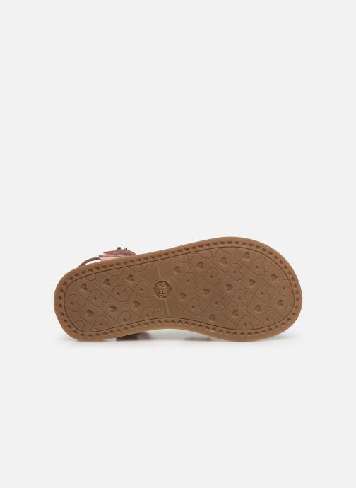 Sandales et nu-pieds Gioseppo CLERMONT Argent vue haut