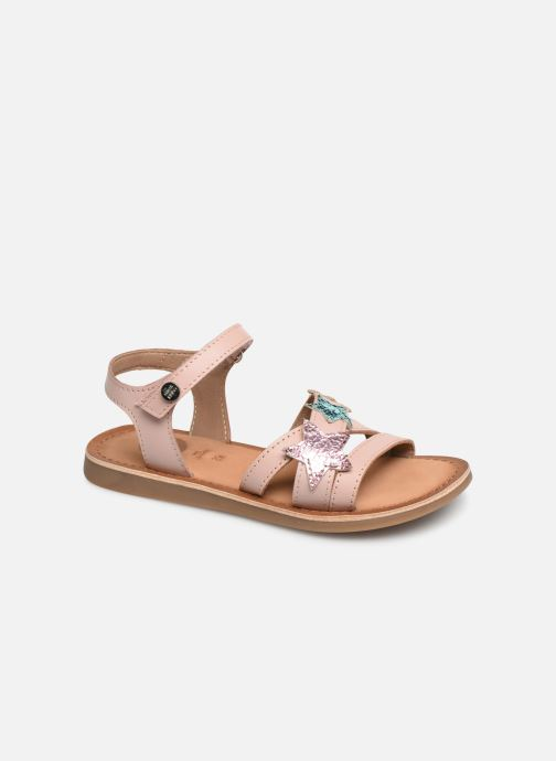 Sandals Gioseppo CLERMONT Silver detailed view/ Pair view