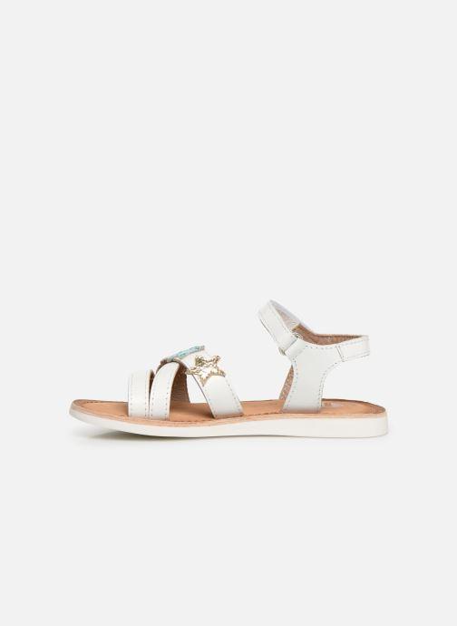 Sandales et nu-pieds Gioseppo CLERMONT Blanc vue face