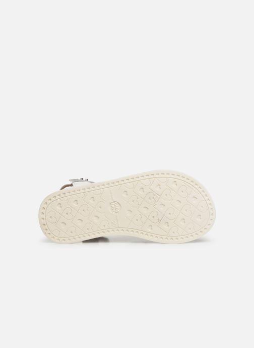 Sandales et nu-pieds Gioseppo CLERMONT Blanc vue haut