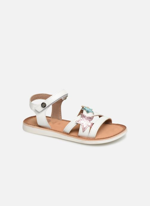 Sandals Gioseppo CLERMONT White detailed view/ Pair view