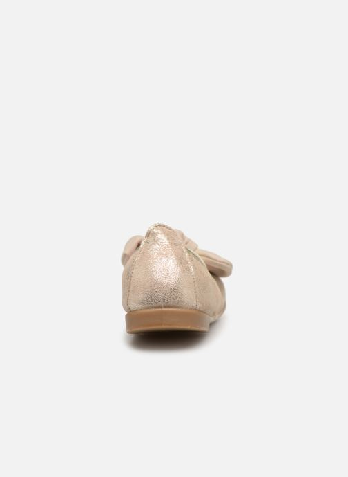 Ballet pumps Gioseppo TIUMEN Bronze and Gold view from the right