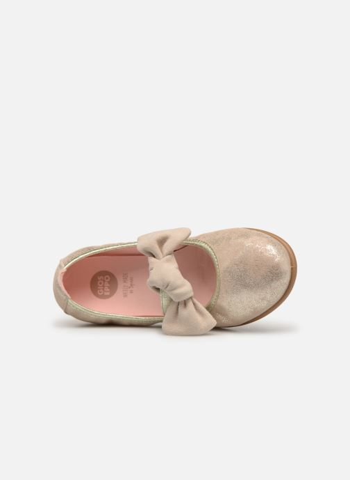 Ballet pumps Gioseppo TIUMEN Bronze and Gold view from the left