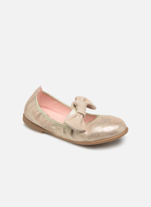 Ballet pumps Gioseppo TIUMEN Bronze and Gold detailed view/ Pair view