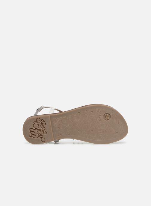 Sandales et nu-pieds Gioseppo ROUBAIX Blanc vue haut