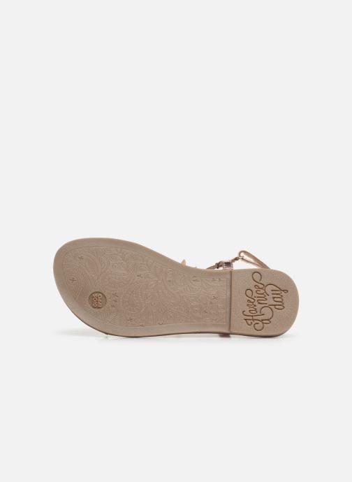 Sandales et nu-pieds Gioseppo ROUBAIX Rose vue haut