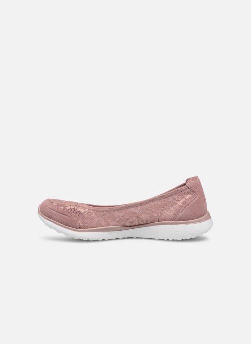 Bailarinas Skechers Microburst Rosa vista de frente