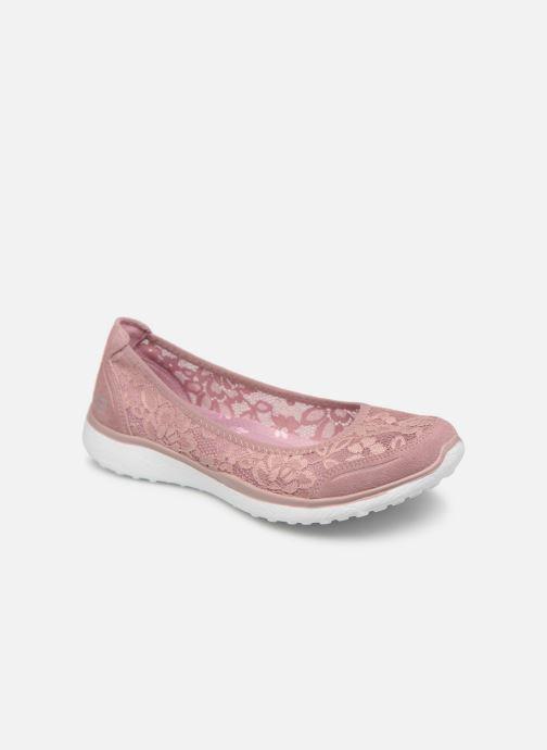 Bailarinas Skechers Microburst Rosa vista de detalle / par